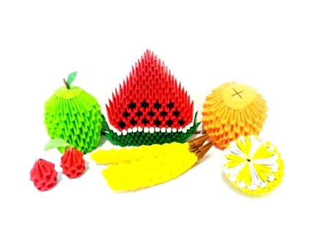 3d origami fruits tutorial 3d origami banana tutorial hd youtube