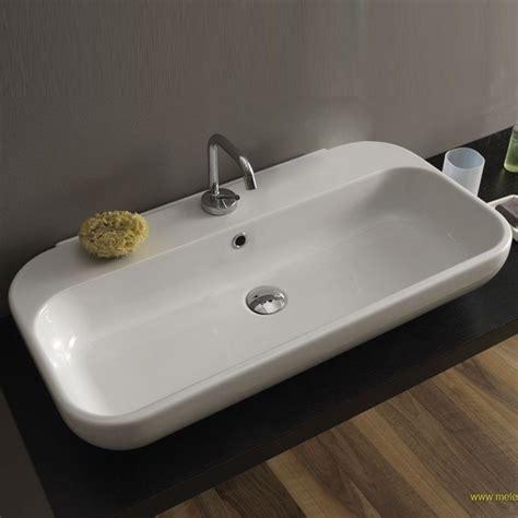 rubinetti per lavabi da appoggio lavabo qubo da appoggio 80x40x15 cm