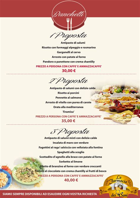 menu banchetti banchetti