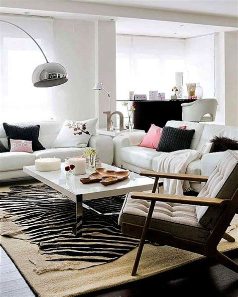 living room rugs modern chic effect zebra print accents in 10 sensational living