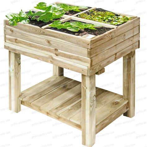 Carre Bois Pour Jardin by Carr 233 Potager Bois Sur Pied 80x60cm Avec Bache De