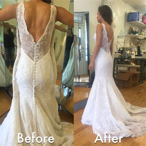 Wedding Anniversary After by Before After Wedding Dress Alteration Initially It Was