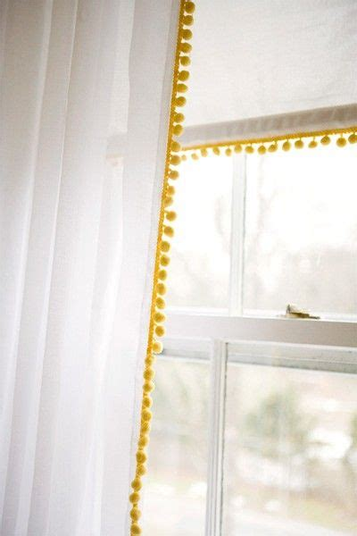white curtains with pom poms best 25 ribbon curtain ideas on pinterest