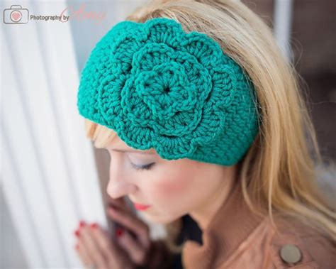 free crochet pattern flowers headbands headband crochet with free pattern crafts pinterest