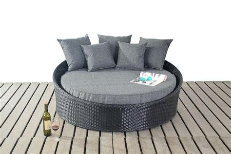 prestige small round luxury day bed rattan outdoor patio