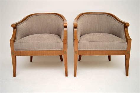 antique armchairs pair of antique swedish satinbirch armchairs antiques atlas