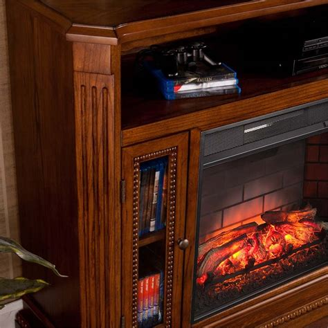 infrared l with stand southern enterprises atkinson infrared electric fireplace
