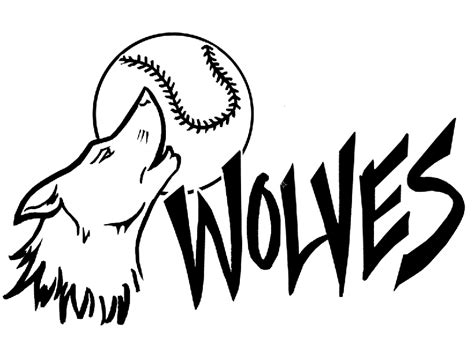 Simple Wolfis M softball images free cliparts co