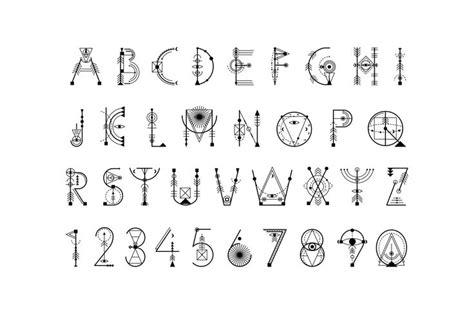 geometric tattoo letters sacred geometry font on behance tattoos pinterest