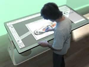 Digital Drafting Table Multi Use Design Table Turns Blackboard