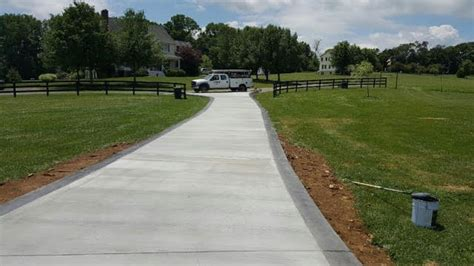concrete horseshoe driveways spacious concrete driveway in northern virginia blackwater