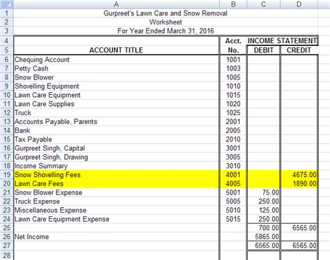 first section of income statement project 2 financial statements