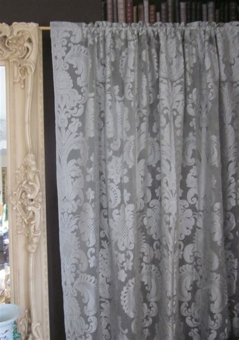 damask lace curtains anne marie french grey chateaux antique style damask