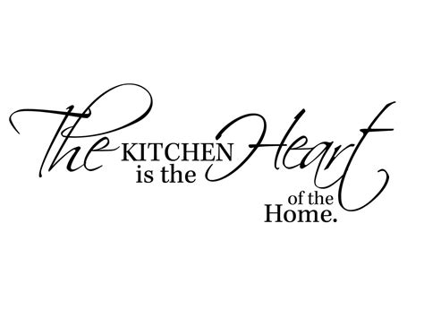 kitchen is the heart of the home muursticker quot the kitchen is the heart of the home