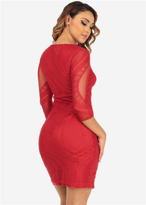 Midi Dress Zipper and trendy lace midi dress with front zipper closure