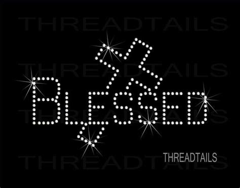 blessed tee  cross bling rhinestone christian