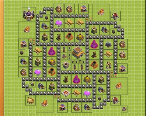 coc layout beginner th 8 clash of clans trophy base google search coc