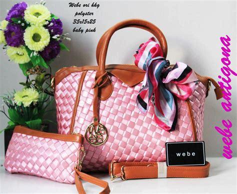 Tas Wanita Fashion Lv Pink Fanta jual tas webe antigona ori polyester baby pink harga murah