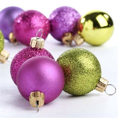 small christmas balls mini assorted ornaments