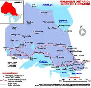 map of northern ontario canada the federation of ontario bed and breakfast accommodation