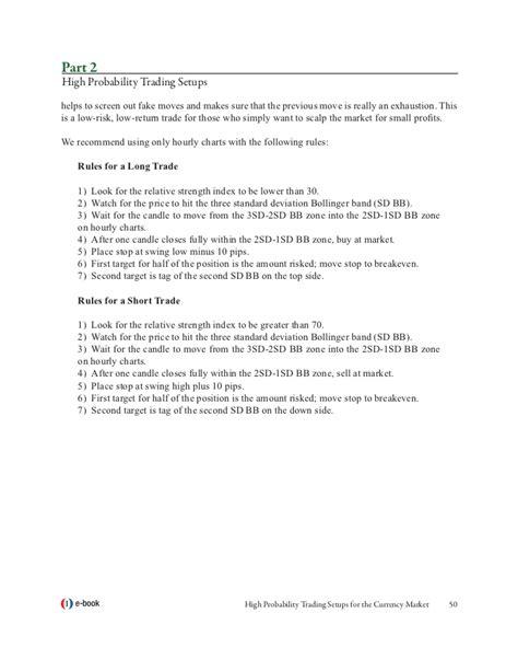 Ebook High Probability Trade Setups free high probability trading setups currency market ebook software sostube
