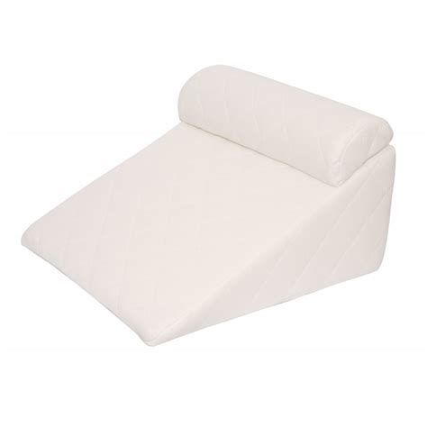therapeutic bed wedge pillow acid reflux wedge 383 thread count padded cover