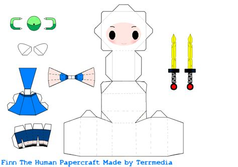 Adventure Time Paper Craft - finn adventure time papercraft by terrmedia on deviantart