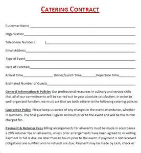 catering template catering contract template free template design
