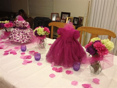 girl baby shower table decorations baby girl shower centerpieces pinks and purples