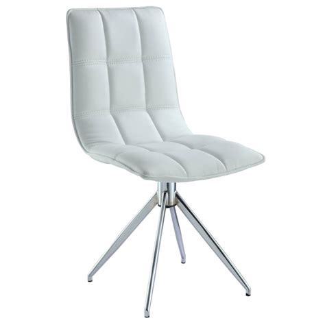 Swivel Chair Dining Apollo White Modern Swivel Dining Chair Eurway