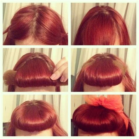 how to part hair to cut bangs bumper bangs middle part hair and photo tutorial on pinterest