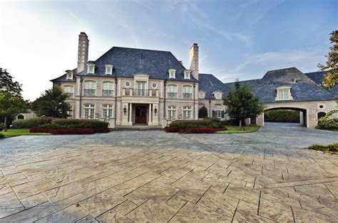 french chateau architecture elegant mansion with stone cladding and lovely facade