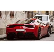 Wallpaper Ferrari 458 Speciale Supercar Back View Red