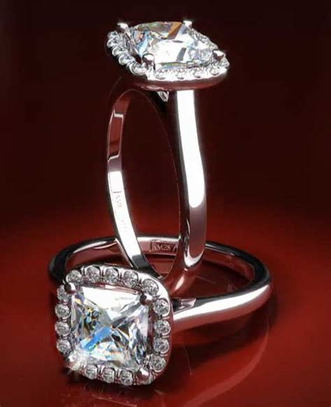 cushion cut halo with plain band 93 best images about halo engagement rings on