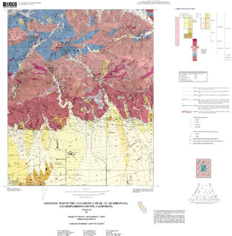 geologic map san jose quadrangle geologic map of the cucamonga peak 7 5 quadrangle san