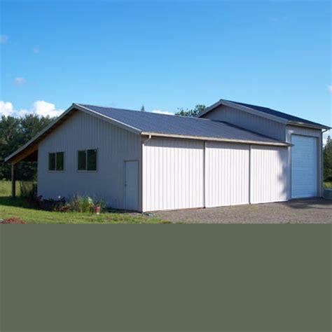 garage and workshop pole buildings at northwest pole