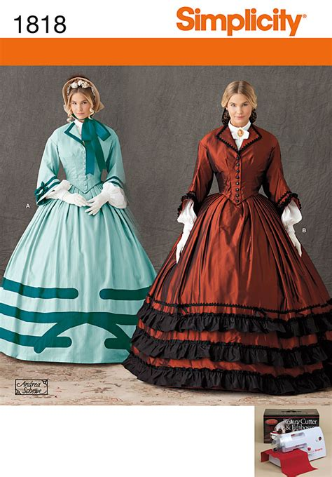 simplicity pattern history simplicity 1818 misses costume