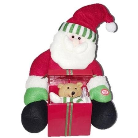 musical santa surprise pop up gift box christmas plush toy