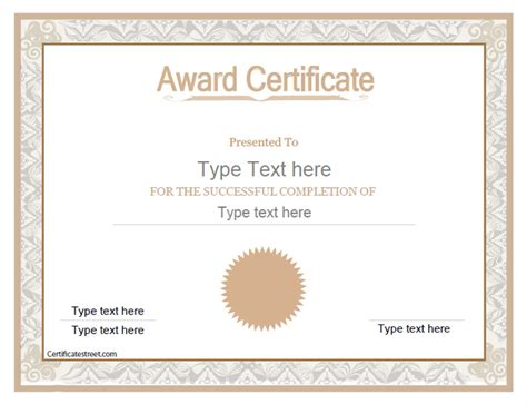 business award certificate template business certificates award template certificatestreet