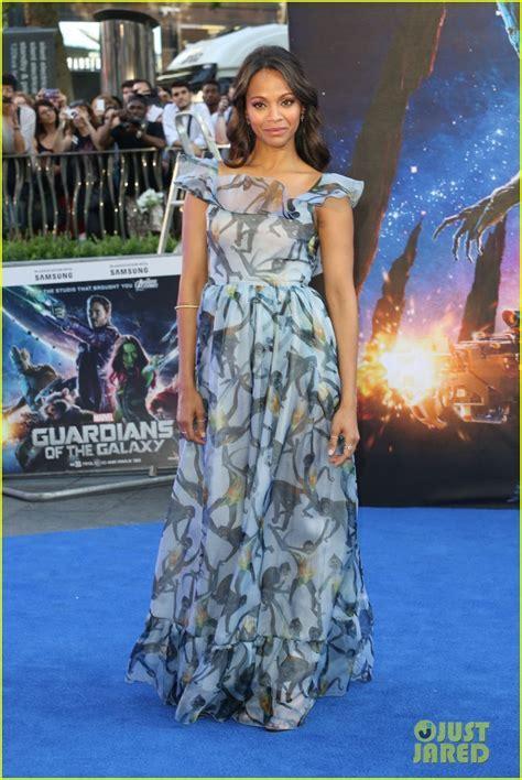 Pregnant Zoe Saldana Wears Billowy Dress to Hide Her Baby