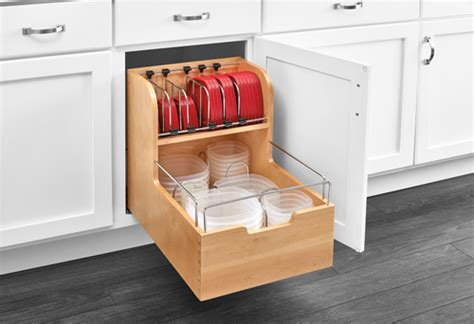 kitchen rev ideas base cabinet pullout food storage organizer woodworking