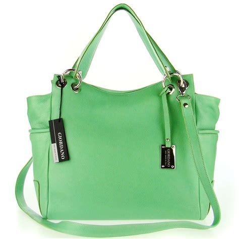 Other Designers With Marco Tagliaferri Designer Handbag by Giordano Italian Made Green Leather Large Designer Shopper