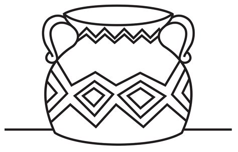 Vase Line Drawing by Vase Line Drawing Clipart Best