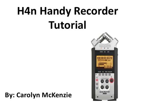 video tutorial zoom h4n h4n handy recorder tutorial