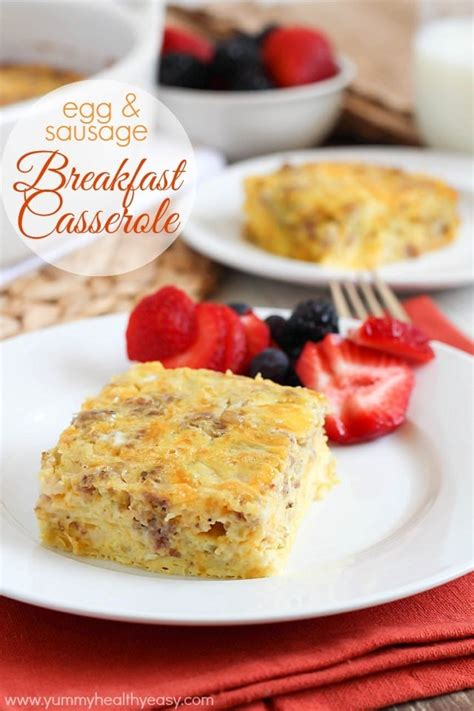 Sausage Egg Cottage Cheese Breakfast Casserole egg sausage breakfast casserole kindle giveaway healthy easy