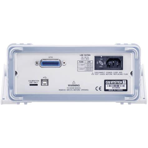 digital bench multimeter gw instek gdm 8342usb digital bench multimeter rapid online