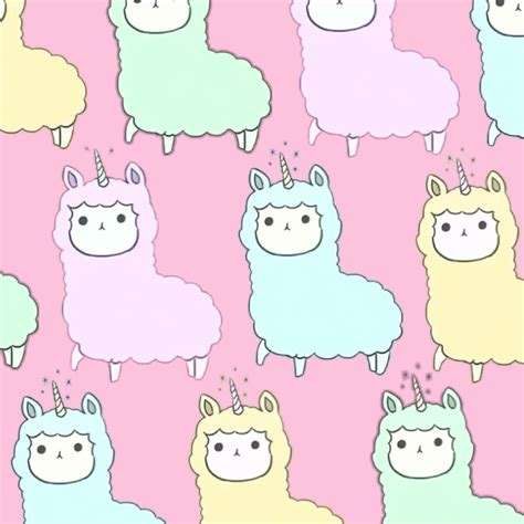 kawaii background alpacorns forever alpacorn unicorn kawaii background