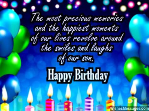 Happy Birthday Quotes For Sons by Birthday Wishes For Quotes And Messages