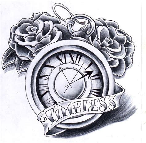 best 25 clock and rose tattoo ideas on pinterest