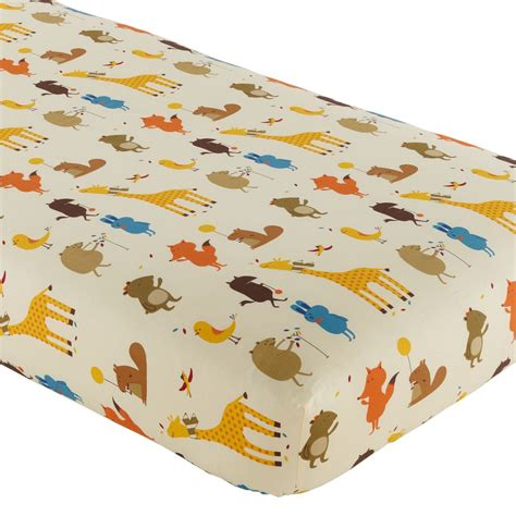 Fitted Baby Crib Sheets by Crib Fitted Sheets The Land Of Nod